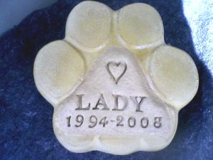 purchasing paw print from Concrete for A Cause Helps Save Animals